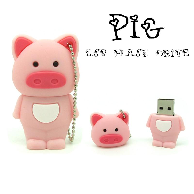 New cute cartoon green pig USB 2.0 16GB flash drive memory stick pendrive gift