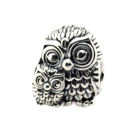 Fits Pandora Charm Bracelets Charming Owls Silver Beads Authentic Original 100 925 Sterling Silver Jewelry DIY