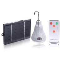 Outdoor Indoor Dimmable 20 LED Solar Light Lamp Rechargeable Hooking Camp Garden Travel Camping Lighting Remote