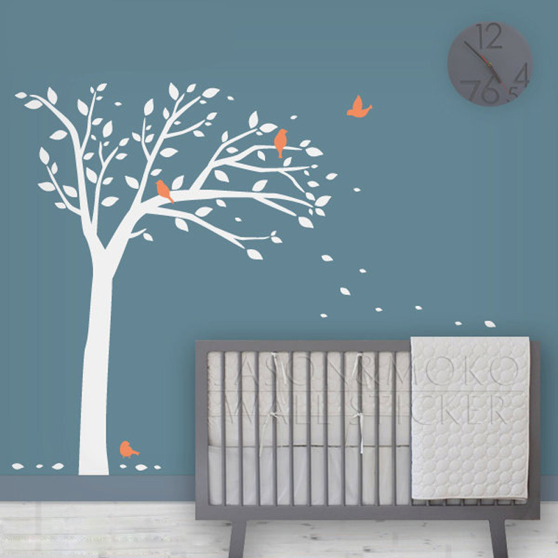 Achetez en gros automne feuille papier peint en ligne for Deco arbre chambre bebe