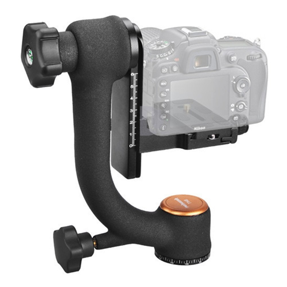360 Swivel Panoramic Gimbal Clamp Tripod ball head Quick Release Plate Bracket for Canon Nikon pentax Sony DSLR dv