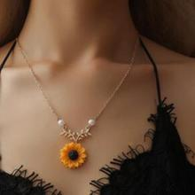imixlot New Creative Sunflower Pendant Necklaces Vintage Fashion Daily Jewelry Temperament Cute Sweater Necklaces for Women imixlot new creative sunflower pendant necklaces vintage fashion daily jewelry temperament cute sweater necklaces for women