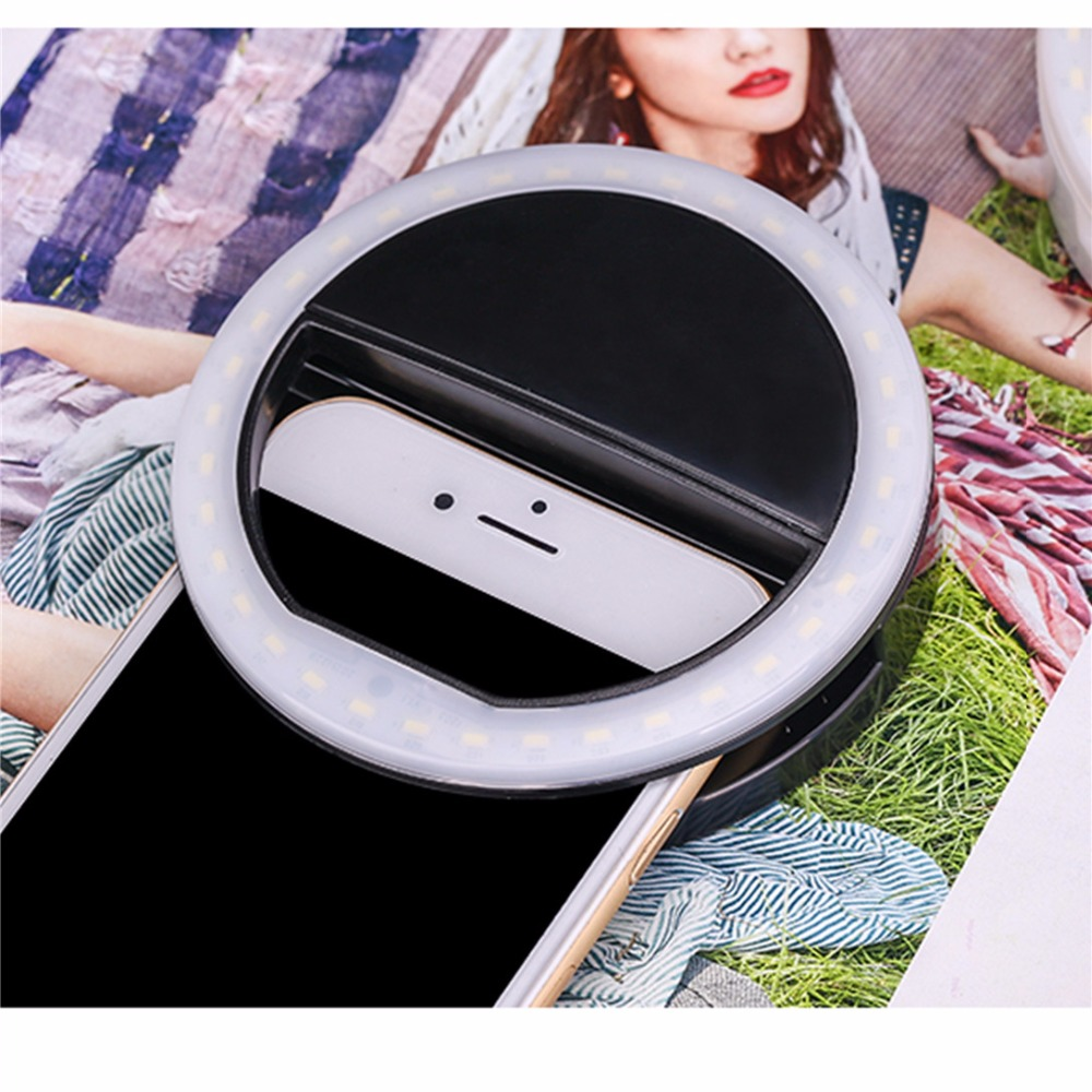 Portable flash Newest LED fill light Photo Tools 36Pcs Makeup Mirror for Mobile Phones Lighted Cosmetic