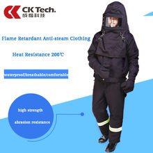 CK Tech. Flame Retardant Anti-steam Protective Clothing 200℃ Temperature Resistant Wear-resistant Pipeline Repair Clothes(China)