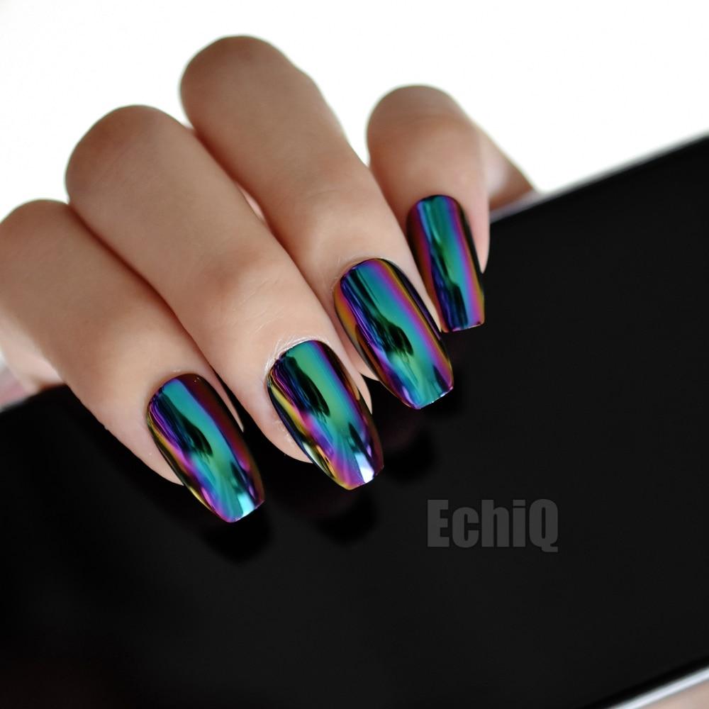 Acrylic Nails Design Blue