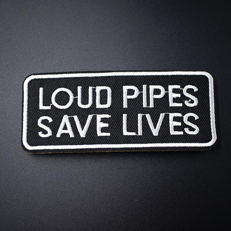 Loud Pipes Save Lives Aufnäher iron-on patch