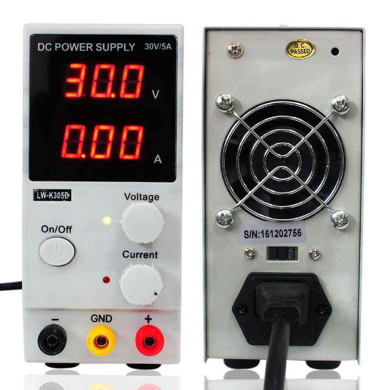 LW-K305D (110V/220V ) DC 0-30V 0-5A Adjustable Stabilized power supply 220V Adjustable switching power supply Digital display 0 30v 0 20a output brand new digital adjustable high power switching dc power supply variable 220v
