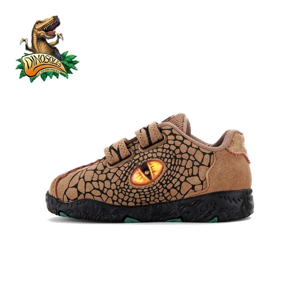 Dinosoles, Sneaker, Ragazzo, Nero (Nero/Bianco), 10 Child UK