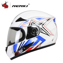 NENKI мотоциклетный шлем матовый Для мужчин полный Уход за кожей лица мотокросс шлем сильное сопротивление к удару внедорожных Шлемы