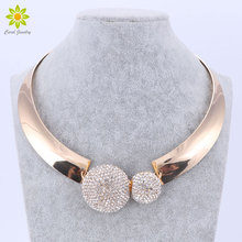 Gold Color Rhinestone Choker Crystal Necklace Women Wedding Chocker 2017 Fashion Women Jewelry Bijoux Bridal Collier Femme