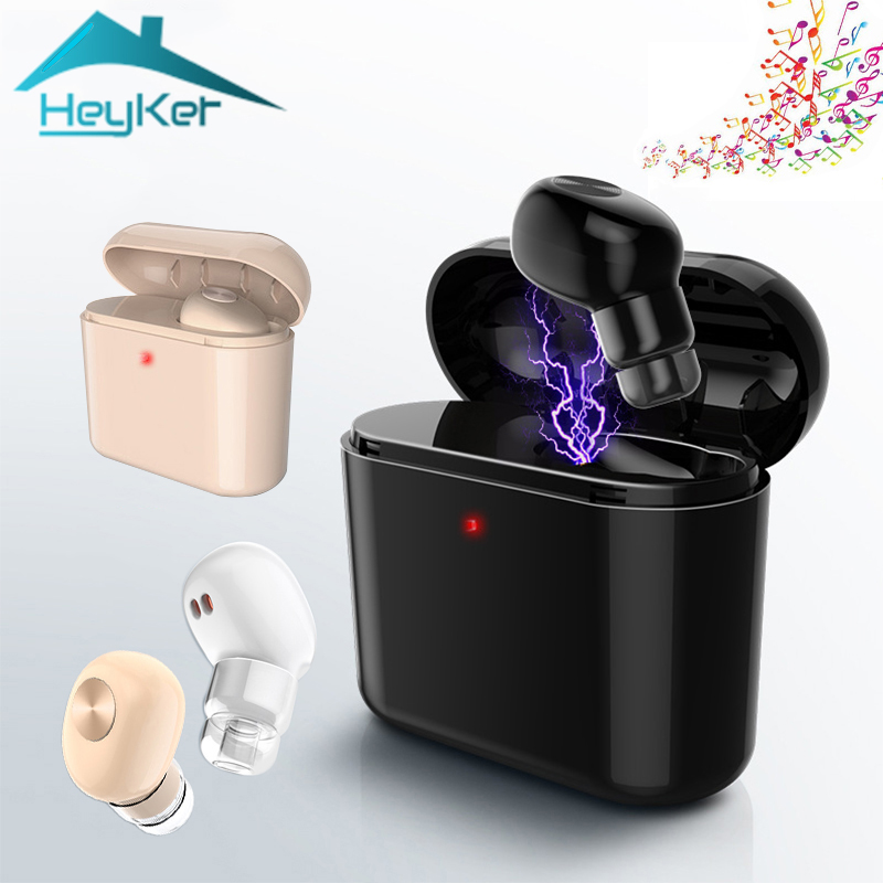 New Mini Bluetooth True Wireless Earphone Inear Earphones Earbuds Handsfree Single Hidde ...
