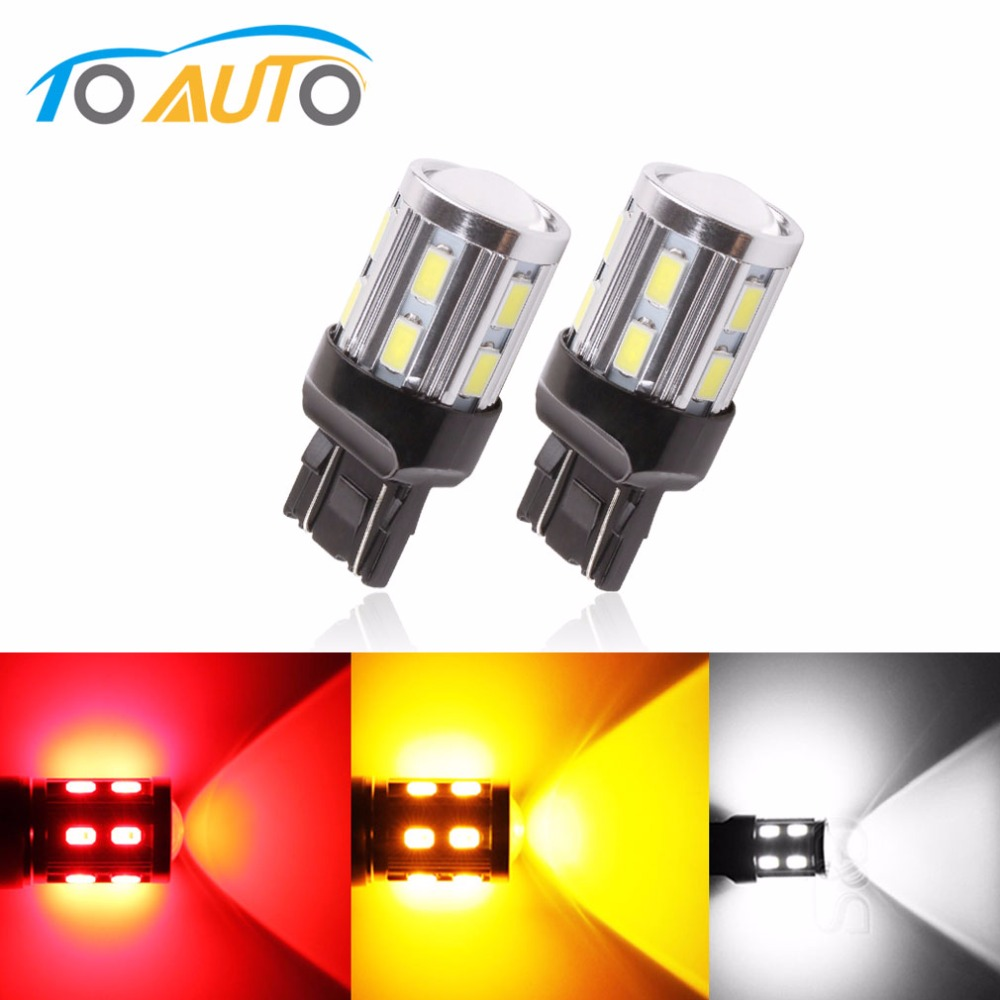 7440 7443 Led Chips Bulbs T20 <font><b>W21</b></font>/<font><b>5W</b></font> lamp <font><b>5W</b></font> - For DRL Fog Brake Lights Turn Signal Tail Lamps car light source Xenon White image