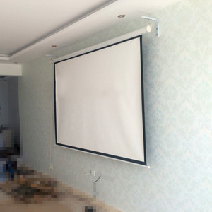 """Image 2 - AAO Projector Screen Wall Mount Brackets """"L"""" Mounting Extension Projection Screens Hook Bracket Wall Mounting Arms Holder Stand"""
