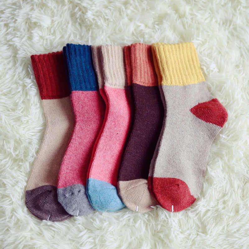 Çorap Kış Splice Artı Kadife Kalınlaşma Sıcak Meia Rahat Kaşmir Çizmeler Elastik Gücü Nefes Çorap Kadın