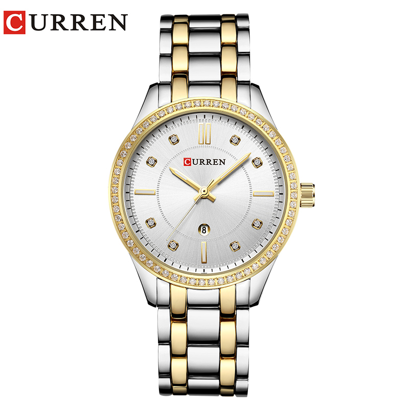 2018 Fashion Women's Wrist Watches With Diamond Golden Watchband Top Luxury Brand Ladies Jewelry Bracelet Clock Female Gift 2017