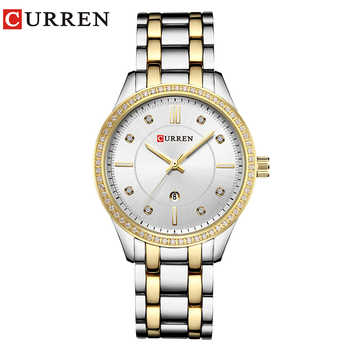 2018 Fashion Women's Wrist Watches with Diamond Golden Watchband Top Luxury Brand Ladies Jewelry Bracelet Clock Female Gift 2017 - DISCOUNT ITEM  47% OFF All Category