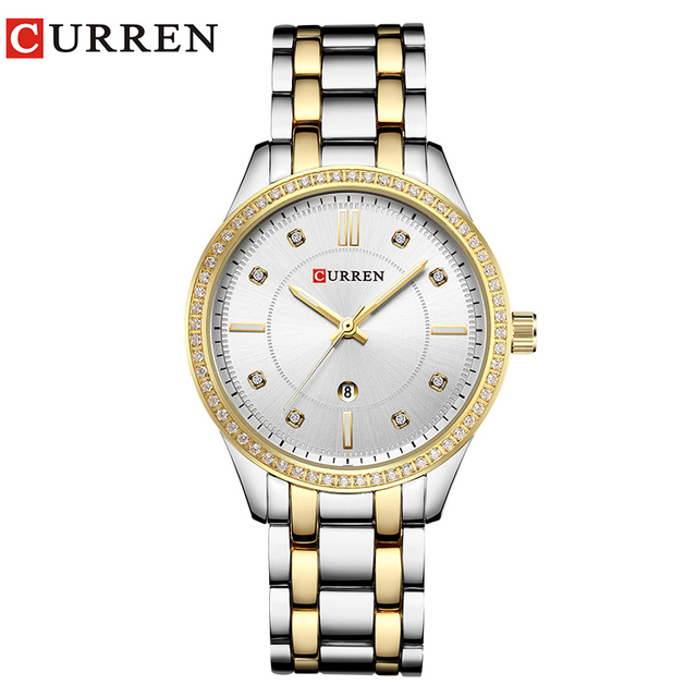2018 Fashion Women's Wrist Watches with Diamond Golden Watchband Top Luxury Bran
