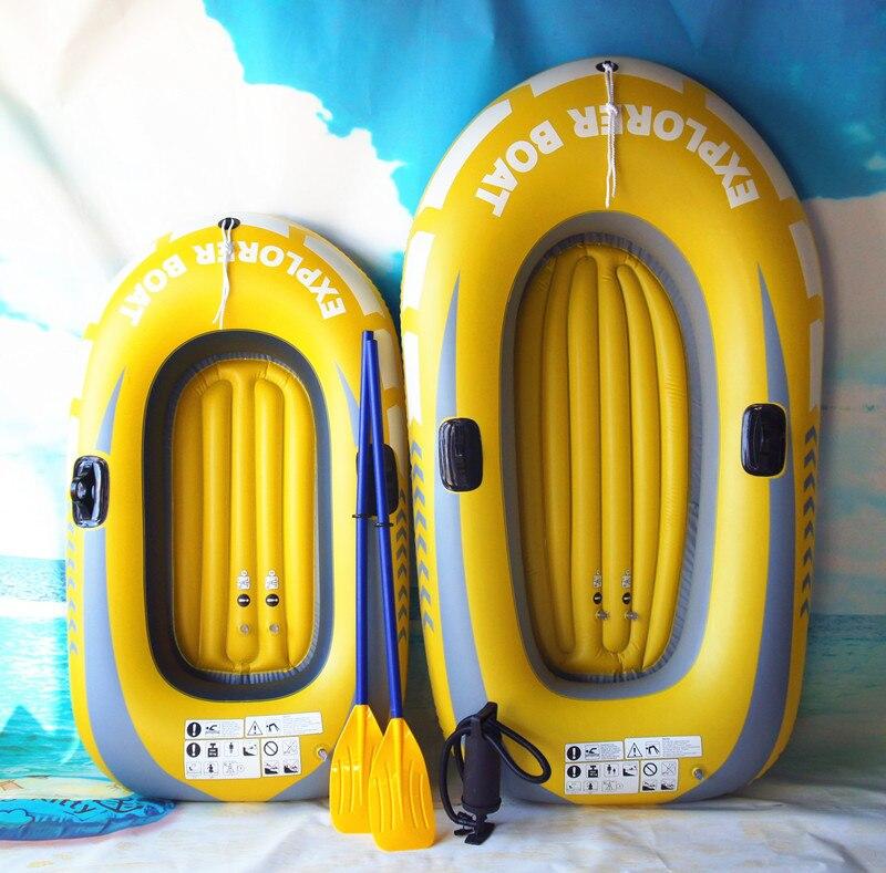 Bateau à rames gonflable avec capacité de pagaie 250 kg portant le bateau de pêche de bateau de PVC gonflable résistant à l'usure épais de 1/2 personnes