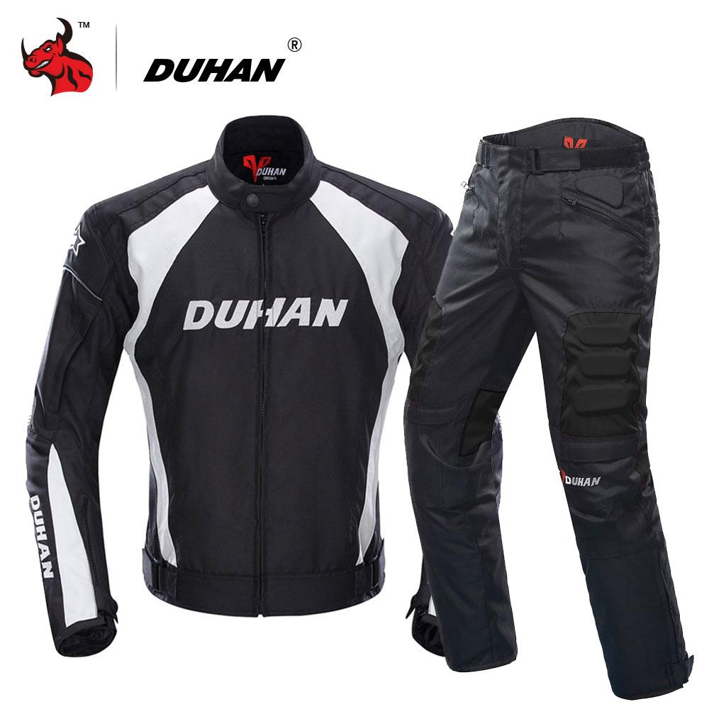 DUHAN Moto Veste Motocross Costumes Veste et Pantalon Moto Veste De Protection D'armure de Vitesse Hommes Moto Vêtements