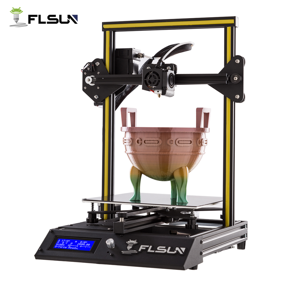 New User 3D Printer Flsun-F4 Large Printing Area 240*240*260mm Metal Frame Fast Assembly Heated Bed One Roll Filament 2018 flsun 3d printer large size 240 240 260mm pre assembly prusa i3 3d printer metal parts heatbed support free pla filament