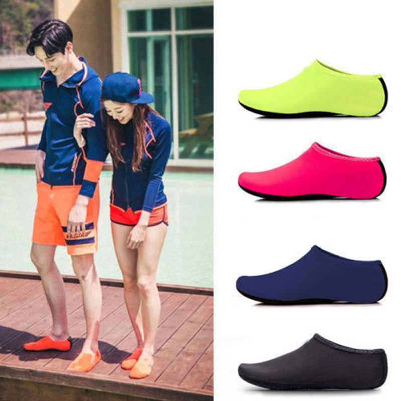 Aqua Wetsuit Shoes for Beach Swimming Water Socks Adjustable Fastener Size 13-11