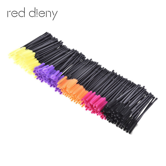 eyelash brush. 50pcs/pack disposable eyelash brush mascara wands applicator comb makeup brushes individual lash removing