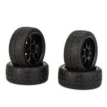EBOYU (TM) 4 unids de alto rendimiento 1/10 llanta y neumático de coche de rally 20101 para traxxas hsp tamiya kyosho hpi rc car