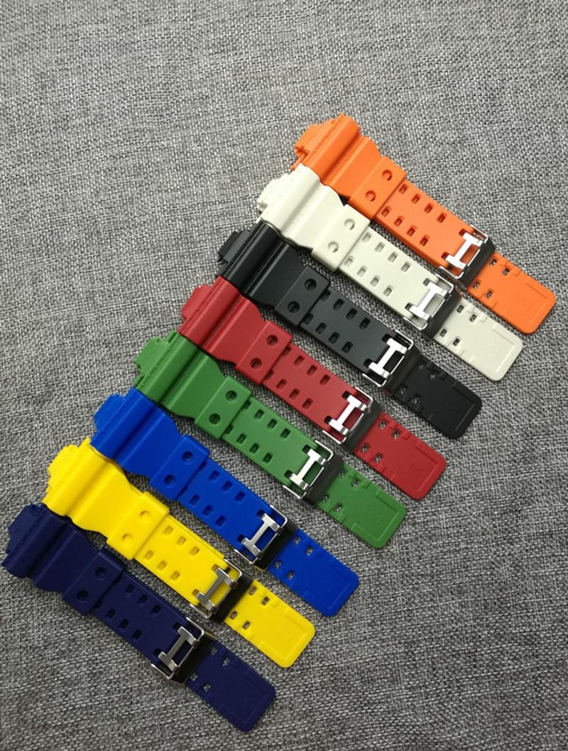 The latest rubber 16MM strap strap  Apply to for  Casio GA-100 GA-120 GA-120 G-8900 GD-100 GD-120 GA-100C watch accessories аксессуары casio g shock gd 100 ga 110 100 120