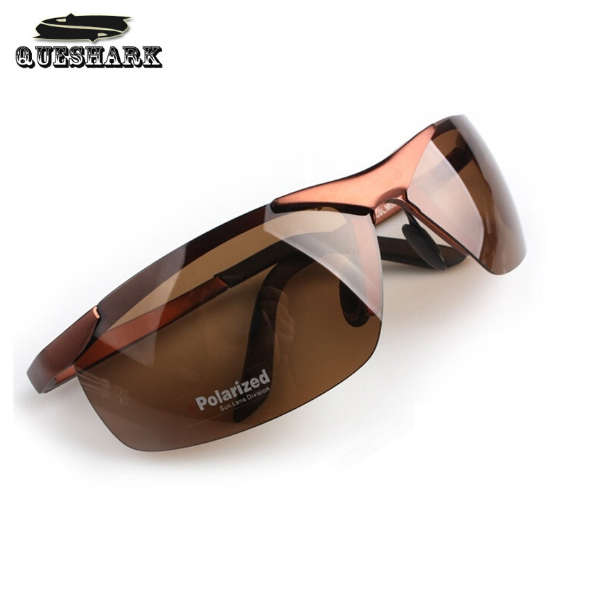 Mens Polarized Night Vision Driving Sunglasses Outdoor Sports Eyewear Half Frame Cycling Glasses