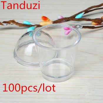 Tanduzi 100pcs Cups+100pcs Lids Wholesale Cute Round Tiramisu Mousse Clear Cup With Cover Artificial Parfait Cup DIY Deco Parts - Category 🛒 Home & Garden