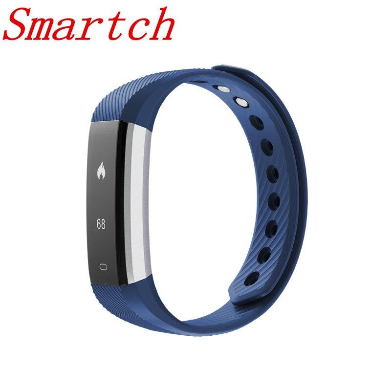 Smartch ID115HR PLUS Intelligent Bracelet Sport de Fréquence Cardiaque Bande À Puce Fitness Tracker Smart Bracelet Montre Smart Watch pour IOS Android