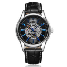 Hollow Design Self-Winding Mechanical Wristwatches Engrave Skeleton Mens automatic mechanical watches Relojes Mecanicos OUYAWEI стоимость