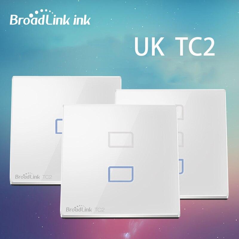 Broadlink tc2 1/2/3 gang panel inteligente wifi pantalla táctil interruptor de p