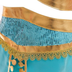 Image 4 - Kids Girls Princess Jasmine Costumes For Children Party Belly Dance Dress Indian Costume Halloween Christmas Party Cosplay 3 10T