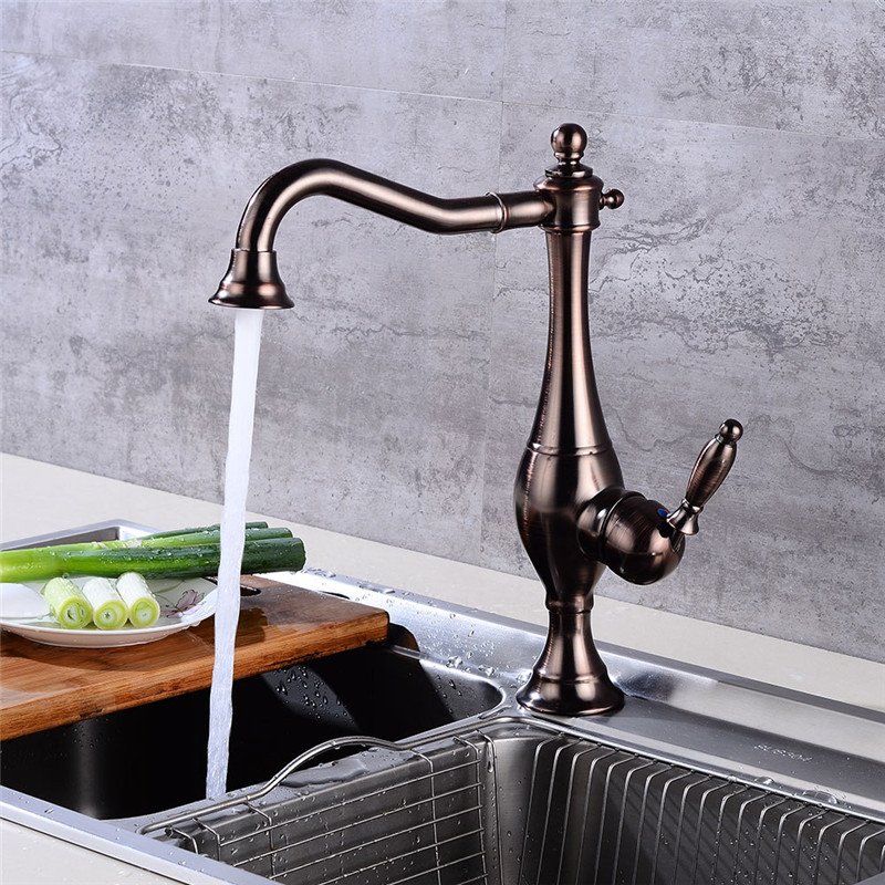 Permalink to Kitchen Faucet, ORB Black Kitchen Faucet Blackened Kitchen Sink Mixer Tap ORB Oil Brushed Black Crane Faucet Sink Mixer Tap