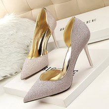SEXY High Heels Shoes Women Pumps Stilettos Summer Wedding Shoes Chaussure Femme Talon Glitter zapatos mujer