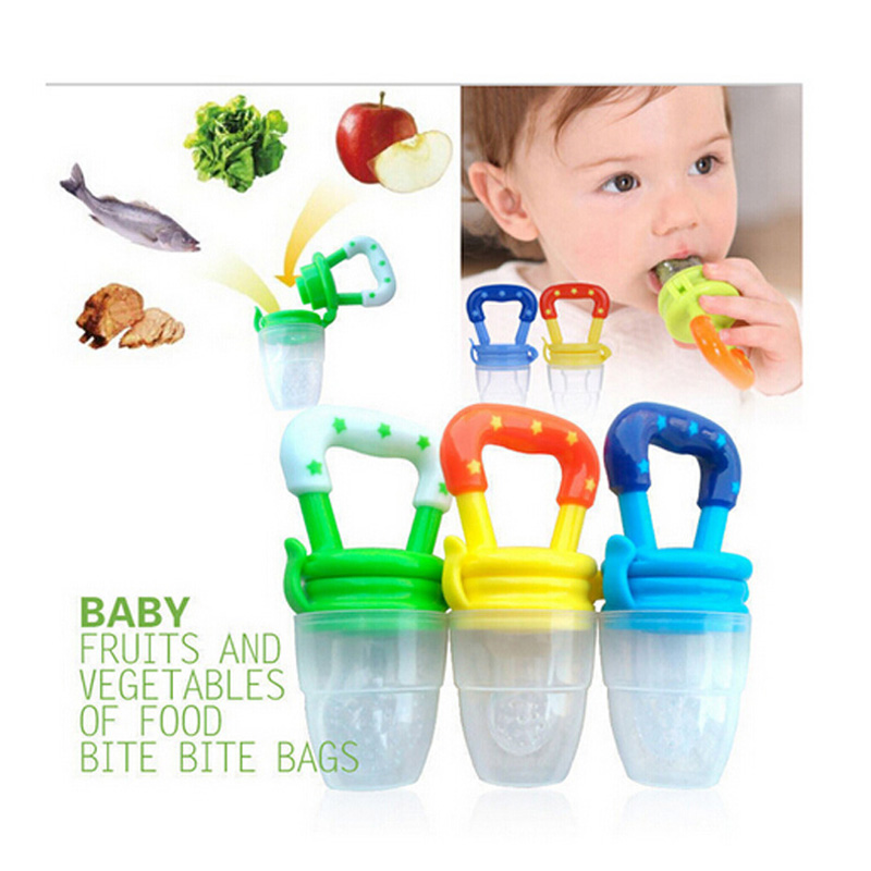 Baby Fresh Food Feeder Nipple Pacifier Nibbler Bottle