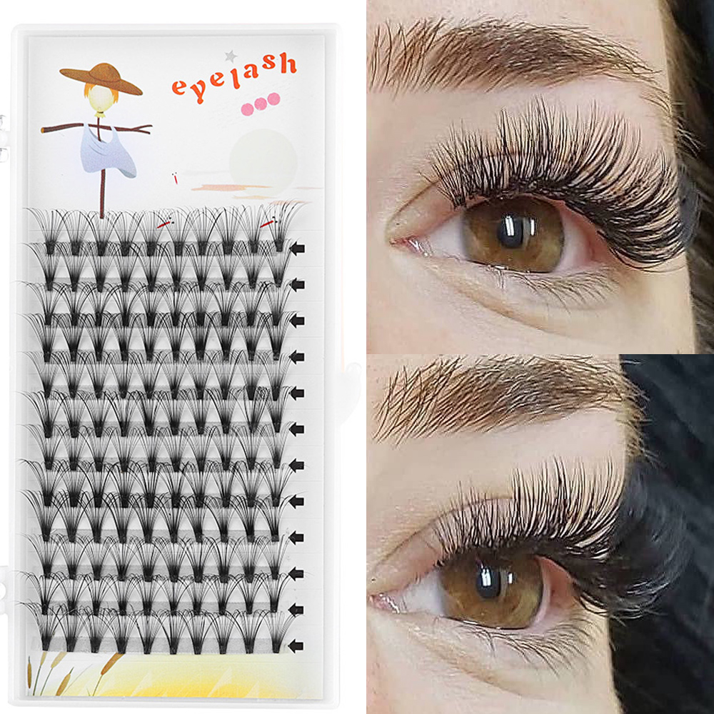 7adf278c3ed Detail Feedback Questions about Individual Eyelashes 12 Lines 20D Premade  Volume Fans Eyelashes C/D Curl Flare Cluster Long Lashes Handmade Eye  Makeup ...