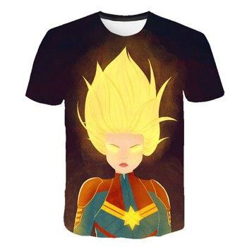 New Summer Avengers T Shirt Ironman Captain Black Widow Marvel T-shirt Super hero Custom Made 3D Print Boys and Girls T-shirts
