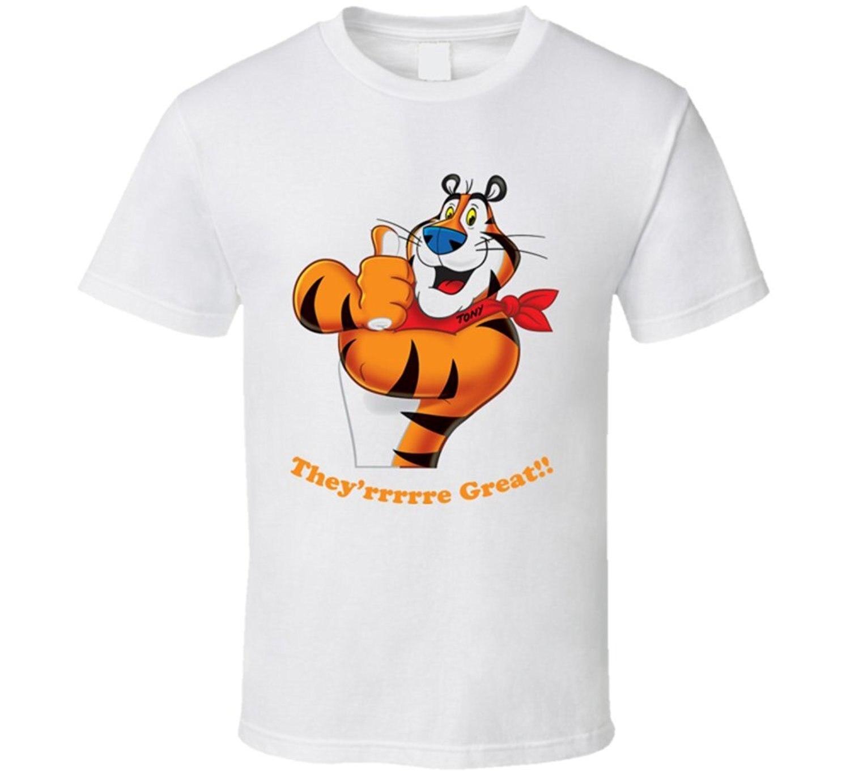 2017 New Arrival Men T-Shirt Short Sleeve Brand T-Shirt Bandit Tony the Tiger Cereal Character T Shirt
