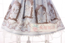 New Summer Sweet Mori Girl Lolita Dress Constellation Pegasus Agaric Lotus Leaf Printed JSK Dress with Bow