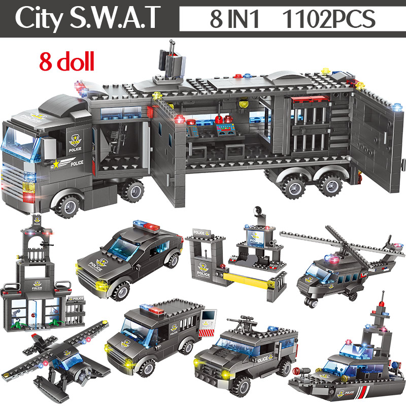 construcao caminhao da cidade swat equipe tijolos 02