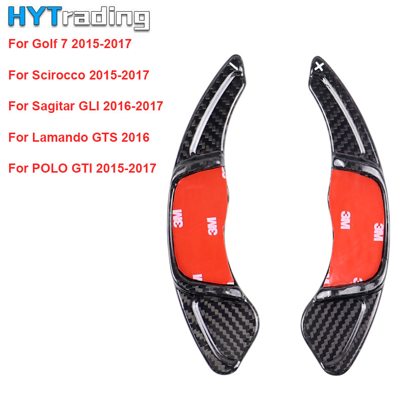 Carbon Steering Wheel Shift Paddle Extension Shifters Replacement For Volkswagen GOLF 7 Golf7 2015 MK7 SciroccoCarbon Steering Wheel Shift Paddle Extension Shifters Replacement For Volkswagen GOLF 7 Golf7 2015 MK7 Scirocco