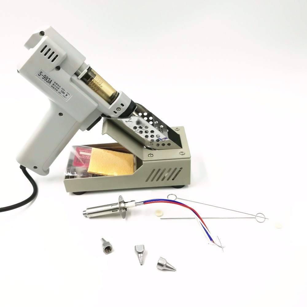 110V/220V Desoldering Gun Electric Absorb Gun S-993A Electric Vacuum Desoldering Pump Solder Sucker Gun 100W