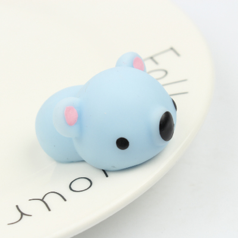 2Pcs/Lot Antistress Ball Mini Squeeze Blue Bear Squishy Slow Rising Doll Stretchy Animal Healing Stress Hand Fidget Fun Gift