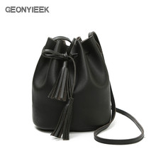 Women bag Hot Selling Bucket Bag Women PU Leather Shoulder