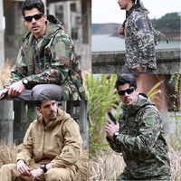 Male Camouflage Jacket Men Military Camouflage Fleece Jacket Army Tactical Clothing Multicam Windbreakers Large Size waterproof