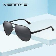 86dc8df50 MERRYS DESIGN Men Clássico Piloto Óculos De Sol HD Proteção Polarized óculos  de Sol Para Homens óculos de Condução de Alumínio P..