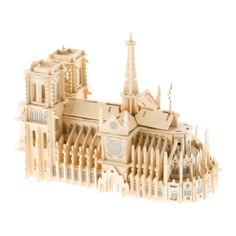 Small Ornaments Paris Models 3D Puzzle France Architecture Kit For Adults And Kids Gift