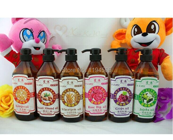 SPA Massage Oil Essential  Grape Sweet Almod Wheatgem Rose hit  Jojoba Ginger Oils Skin Care Beauty Products 750ml sea of spa oil scrub rose